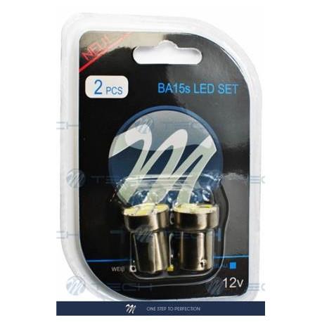 Blister 2x Lámpara led L075 - Ba15s G18 5xSMD5050 Blanco 12V