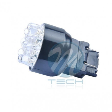 Lámpara led L042 - 3157 12LED 5mm Blanco 12V