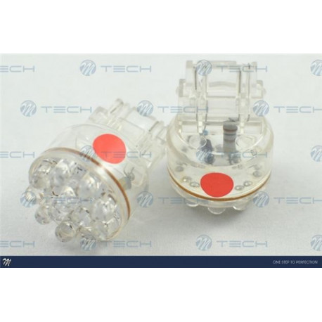 Lámpara led L042 - 3157 12LED 5mm Rojo 12V