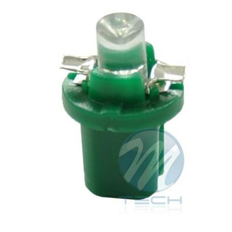 Lámpara led L005 - B8.5D redondo Verde 12V