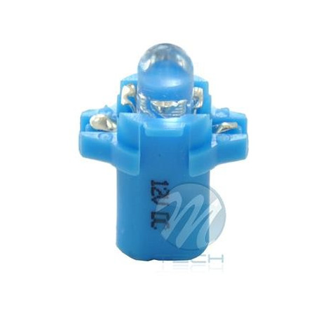 Lámpara led L047 - B8.3D redondo Azul 12V
