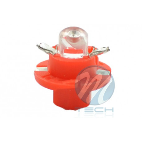 Lámpara led L049 - B8.4D redondo Rojo 12V