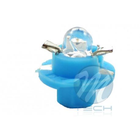 Lámpara led L049 - B8.4D redondo Azul 12V