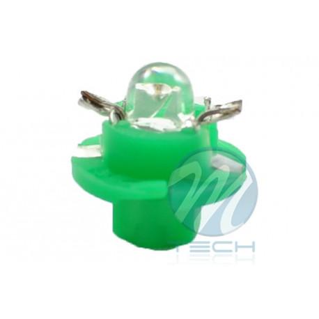 Lámpara led L049 - B8.4D redondo Verde 12V