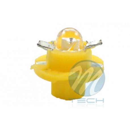 Lámpara led L049 - B8.4D redondo Amarillo 12V