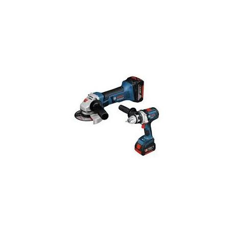 Combo Bosch GDX 18V-LI+GDS18V-LI+2 BAT 5 AH LITIO