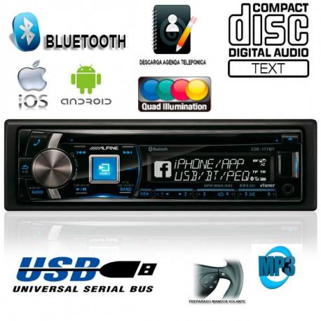 RADIO CD / USB / CONTROLADOR DE iPod con BLUETOOTH