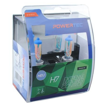 Pack 2 lámparas halógenas m-tech Powertec Extreme Weather Control H7 12V DUO
