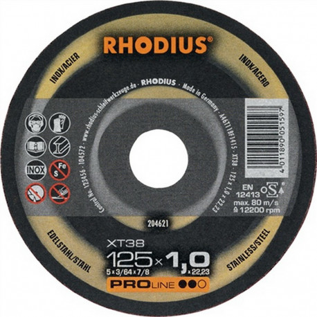 Disco Corte Acero Rhodius XT20-115X1