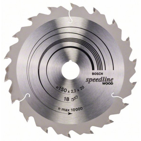 Disco circular Bosch Speedline Wood 150x20 18 dientes