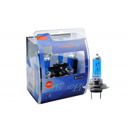 Pack 2 lámparas halógenas efecto Xenon SuperBlanco Powertec SuperBlanco H7 12V DUO E4