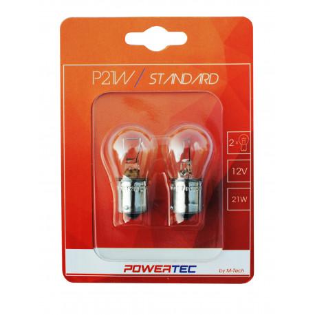 Blister 1 lámpara halógena efecto Xenon Transparente Powertec STANDARD H1 12V blíster E4