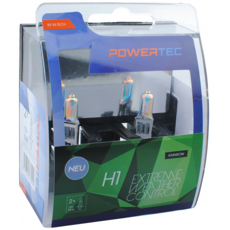 Pack 2 lámparas halógenas m-tech Powertec Extreme Weather Control H1 12V DUO