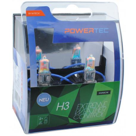 Pack 2 lámparas halógenas m-tech Powertec Extreme Weather Control H3 12V DUO