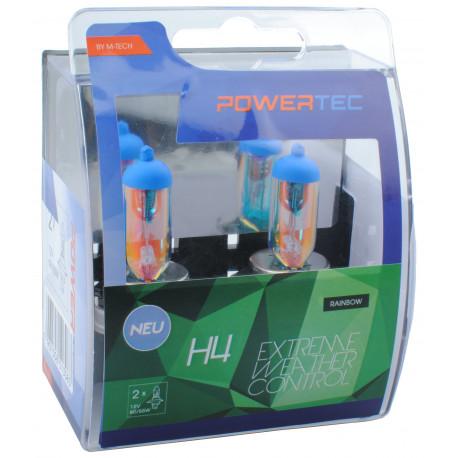 Pack 2 lámparas halógenas m-tech Powertec Extreme Weather Control H4 12V DUO