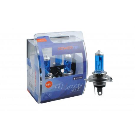 Pack 2 lámparas halógenas m-tech Powertec XENON BLUE H4 12V 55W