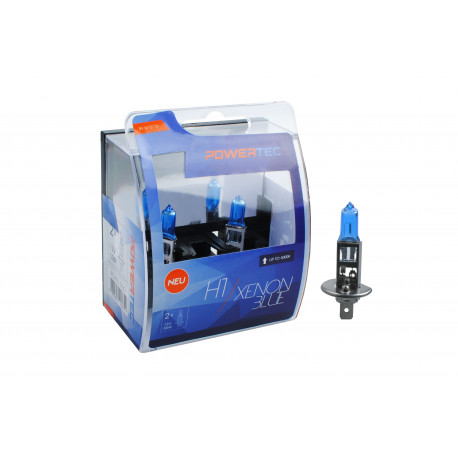 Pack 2 lámparas halógenas m-tech Powertec XENON BLUE H1 12V 55W