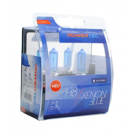 Pack 2 lámparas halógenas m-tech Powertec XENON BLUE H8 12V 35W