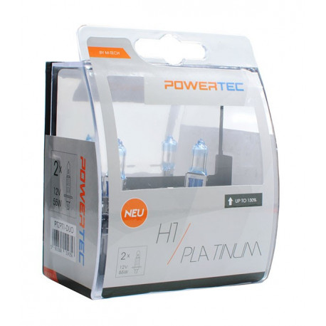 Pack 2 lámparas H1 Powertec Platinum +130% H1 12V DUO