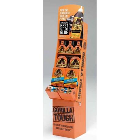 Expositor vertical Gorilla: Cinta Americana+Super Glue Gorilla