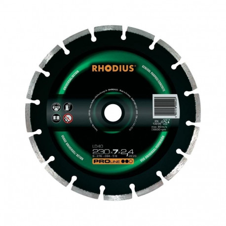 Disco diamante Rhodius 180mm LD40-180