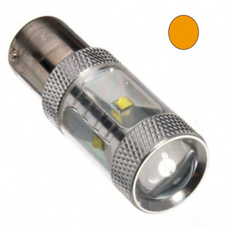 2 Bombillas led BA15S YELLOW EPISTAR