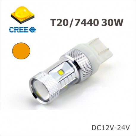 2 Bombillas led 7440 YELLOW EPISTAR