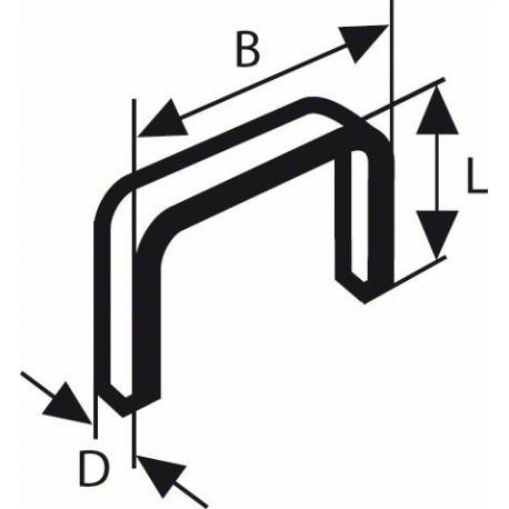 Grapas de alambre fino Bosch tipo 53