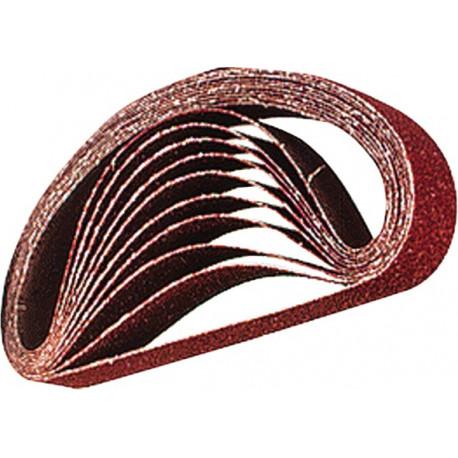 Lija de velcro perforada 100x240mm roja