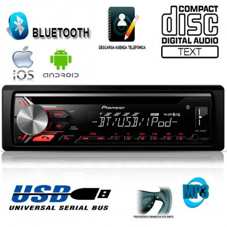 Radio CD USB Pioneer DEH 3900BT