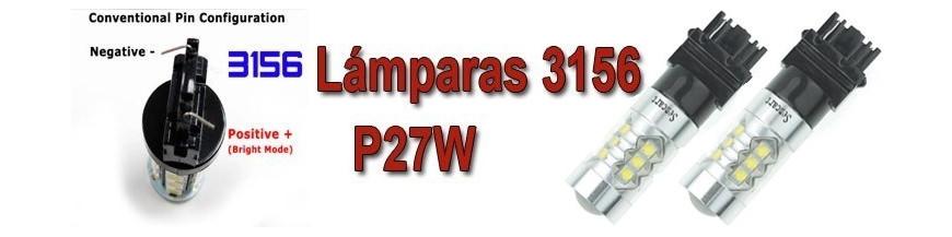Bombillas T25 P27W 3156