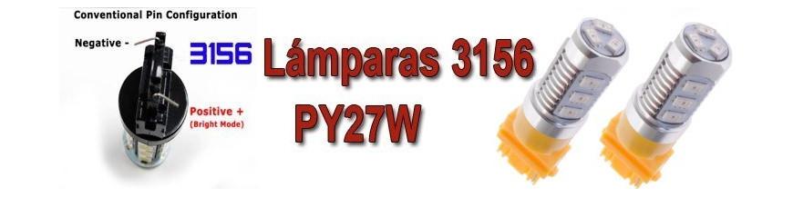 Bombillas T25 PY27W 3156