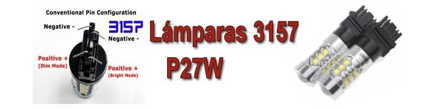 Bombillas T25 P27W 3157