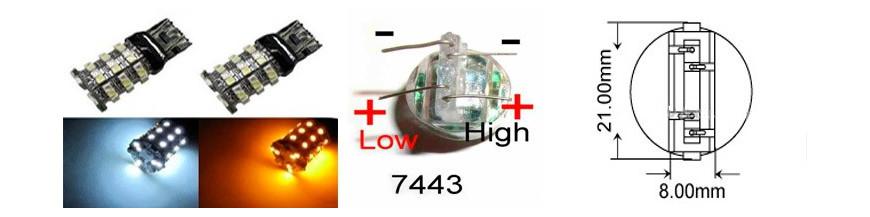 Bombillas T20 W21/5W 7443