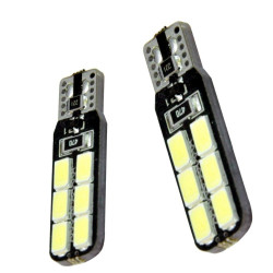 2 Bombillas T10 2 caras 12 SMD CANBUS