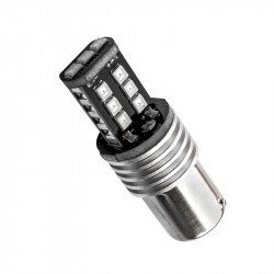 Blister 2 lámparas led BA15S 15xSMD Blanco 12V/24V CANBUS