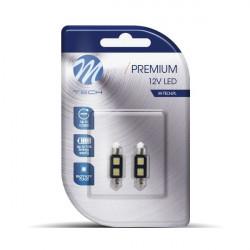 2 Bombillas de LED Festoon de 36mm Can Bus 2xSMD5050