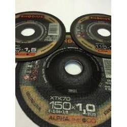 Disco corte inox Rhodius XT70-125X1 caja 100 uds.