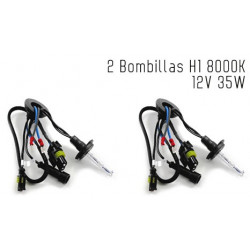 2 Bombillas de XENON H1 12V 35W 8000K