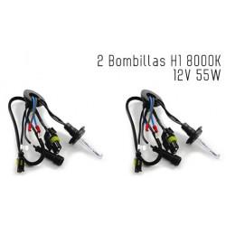 2 Bombillas de XENON H1 12V 55W 8000K