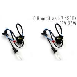 2 Bombillas de XENON H7 12V 35W 4300K