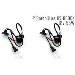 2 Bombillas de XENON H7 12V 55W 8000K