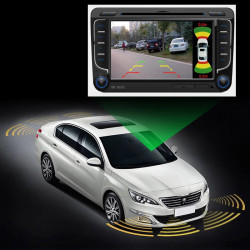 Interface parking con video, 8 sensores delanteros y traseros