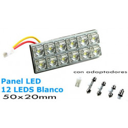 1 Placa 50x20mm 12 Leds Blancos.
