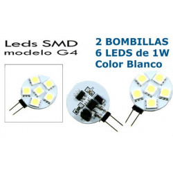 2 Bombillas de LED G4 6 Leds