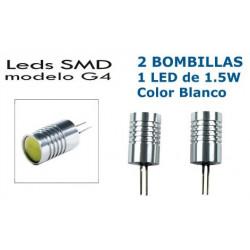 2 Bombillas de LED G4 1 Led de 1.5W