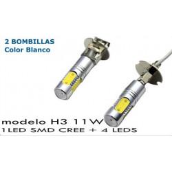 2 Bombillas de Led CREE SMD 11W H3