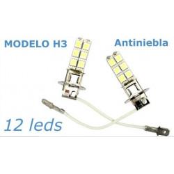2 Bombillas de Led H3 Faros Antiniebla