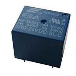 Relé 24V / 10A ensamblar - 1x contacto conmutación