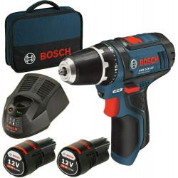 Atornillador Bosch GSR 12V-15 + 2 BAT 2 Ah+Bolsa
